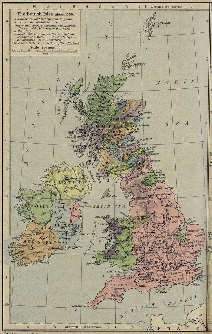 British isles 1300