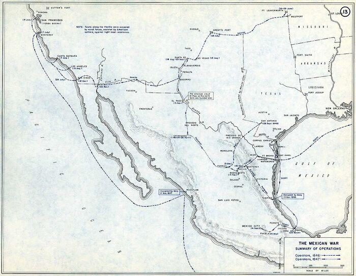 Mexican war map SummaryOps
