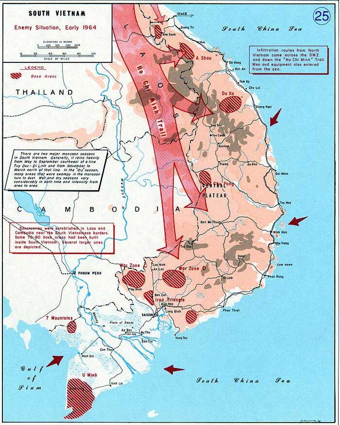 Vietnam war map 25
