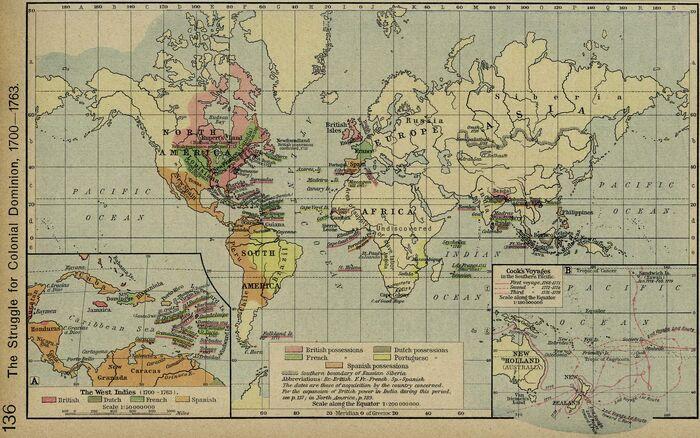 Colonial dominion 1700 1763
