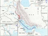 Map of Iran-Iraq War
