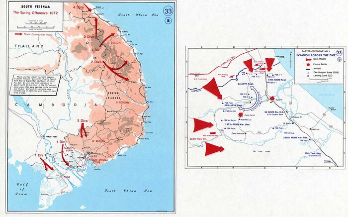Vietnam war map 33
