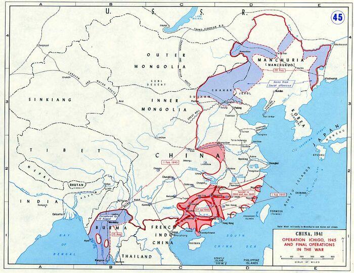 Ww2 asia map 45