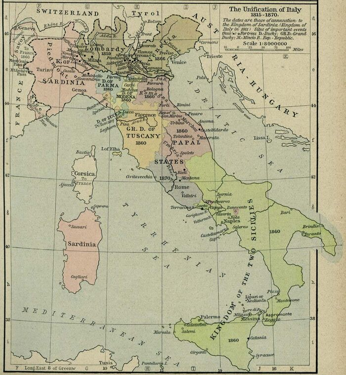 Italy unification 1815 1870