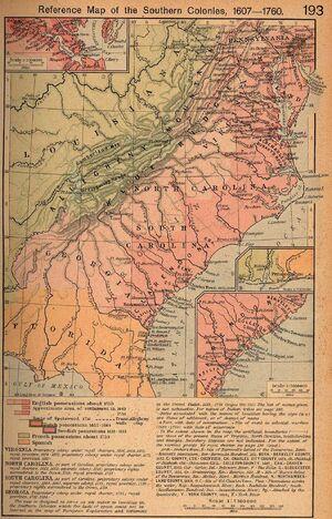 Southern col 1607 1760