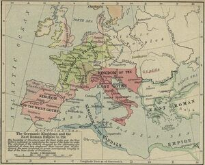 Germanic kingdoms 526
