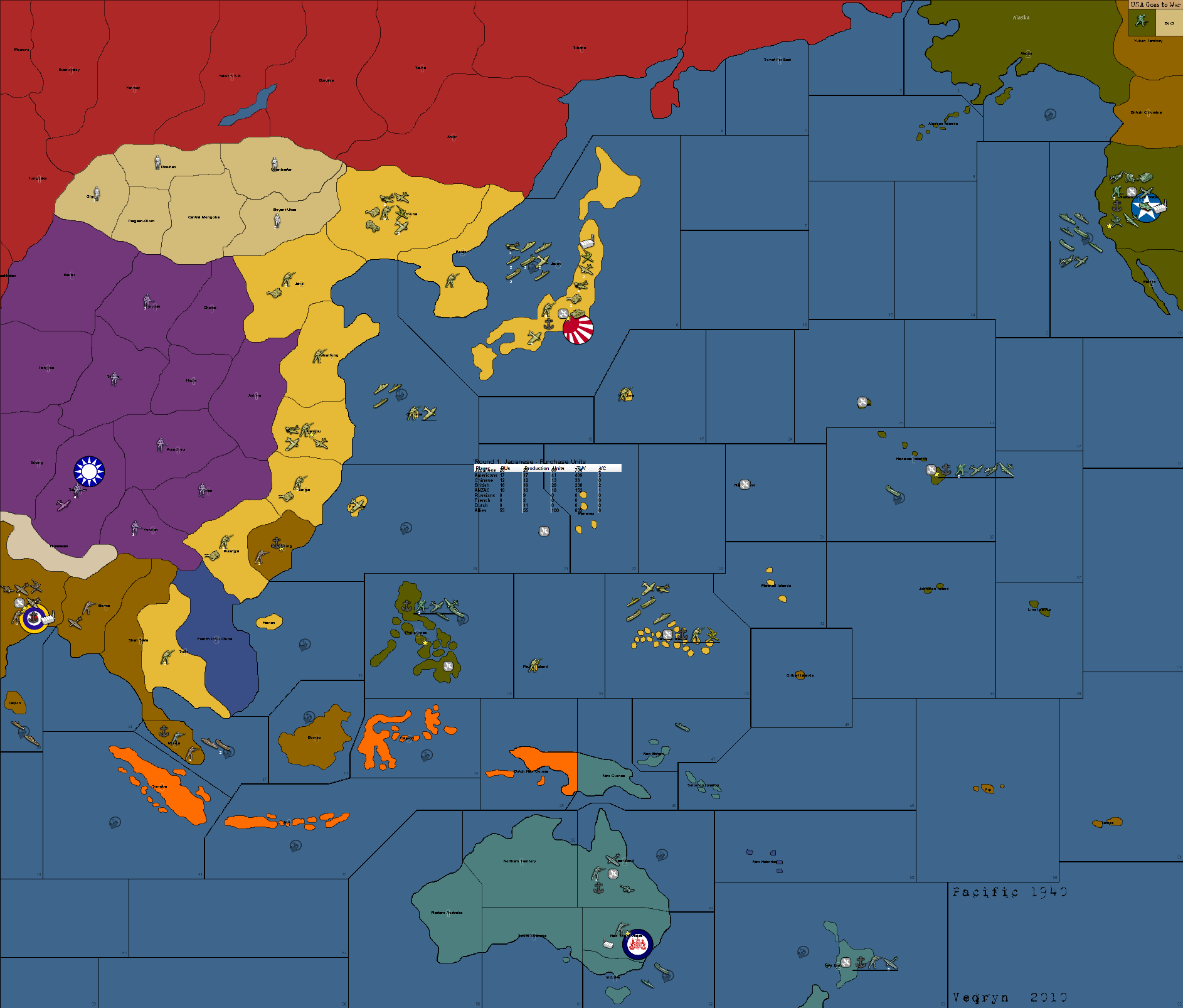 Axis And Allies Pacific Map World War II Pacific | Axis & Allies Wiki | FANDOM powered by Wikia