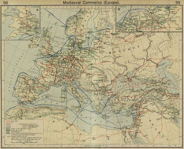 Europe mediaeval commerce