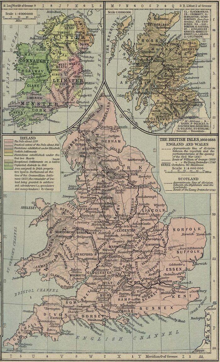 British isles 1603 1688