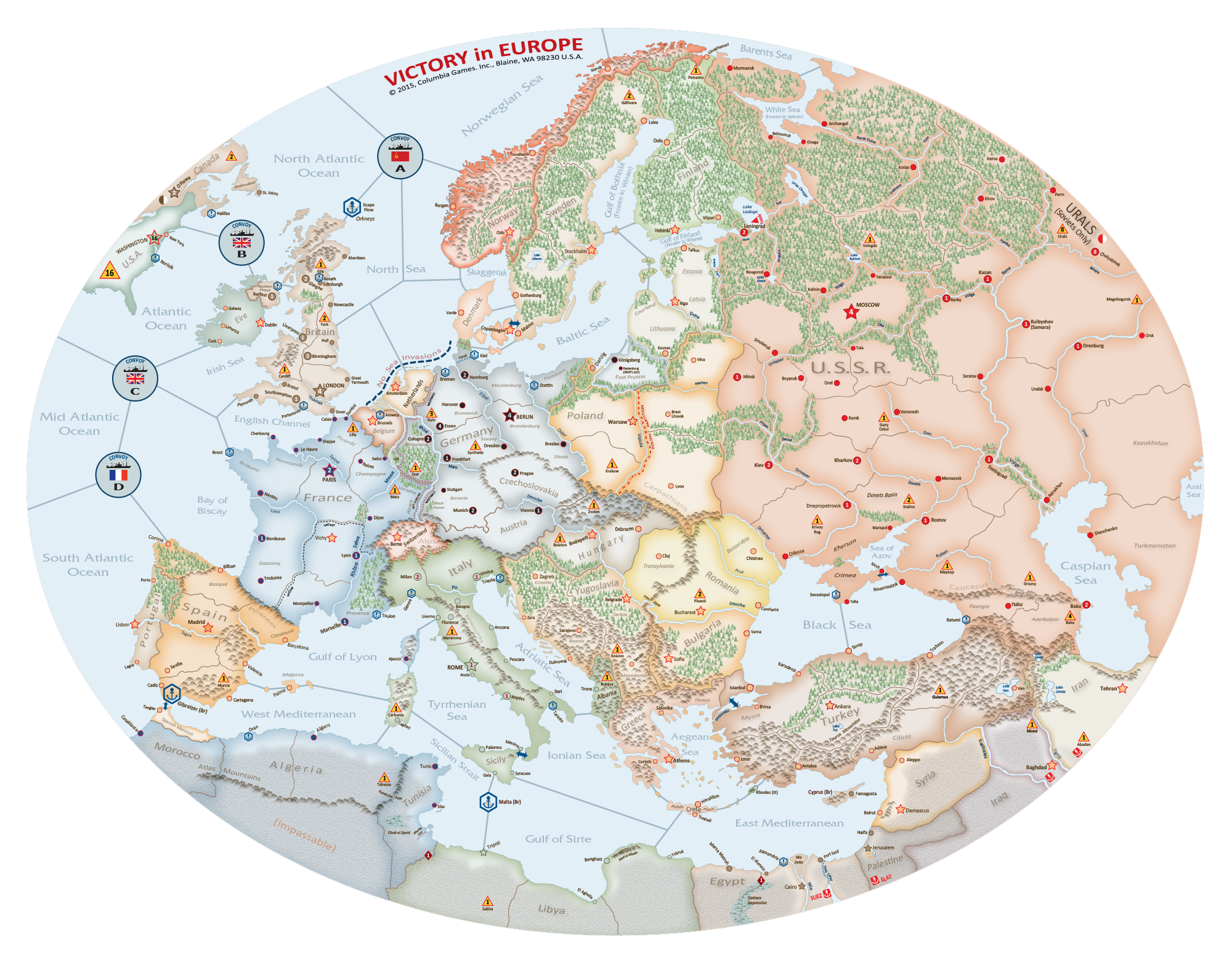 Victory in europe axis allies wiki fandom powered by wikia 3402ve map 2000 gumiabroncs Image collections