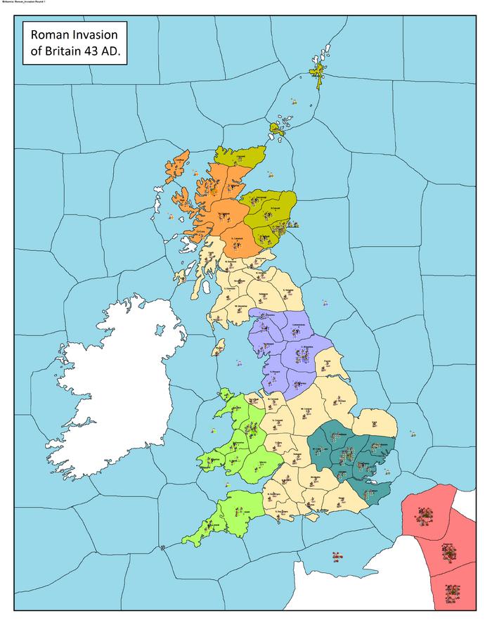 Britannia Roman Invasion