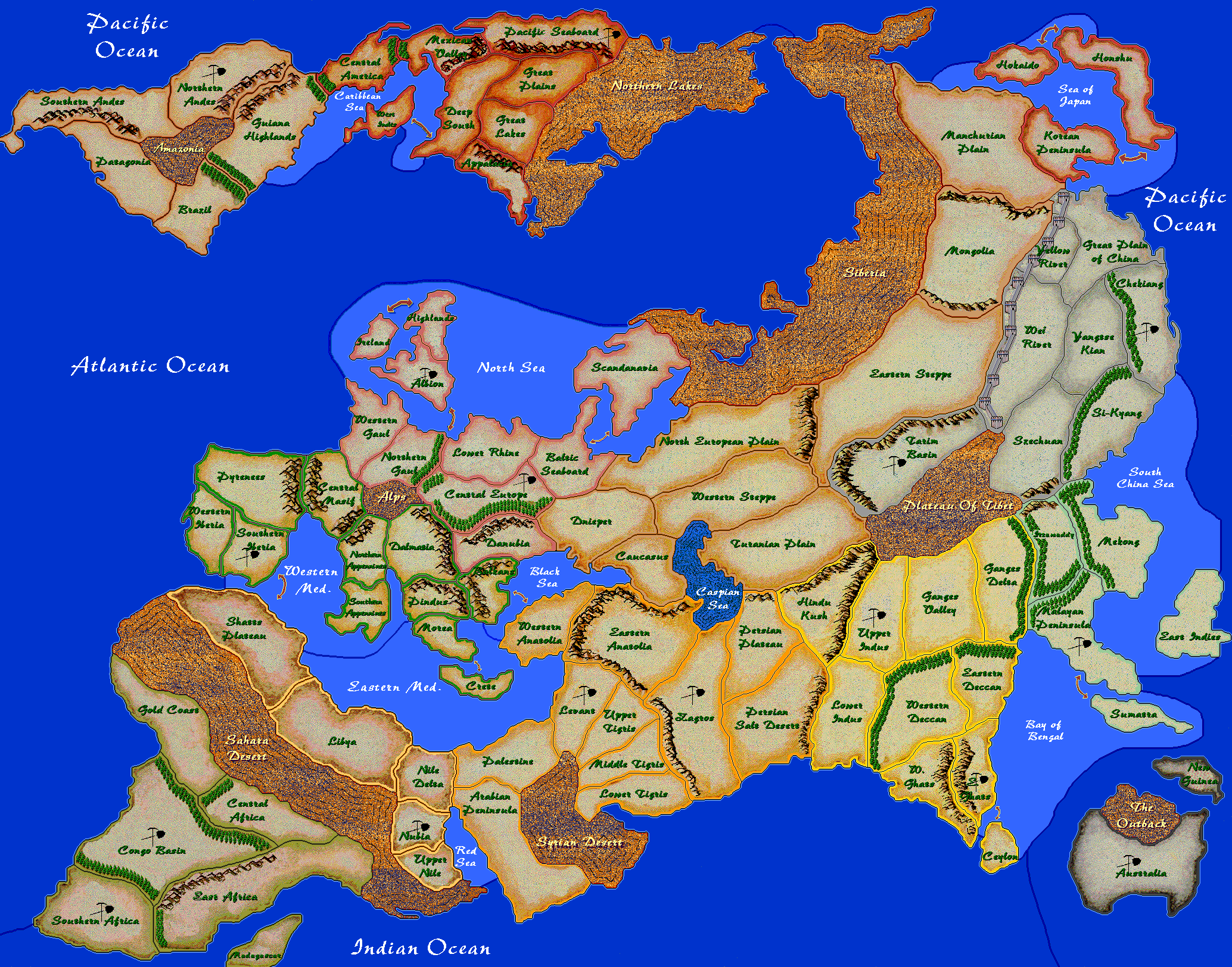 History of the world axis allies wiki fandom powered by wikia hotw map gumiabroncs Choice Image
