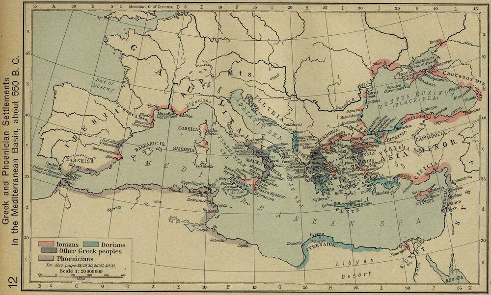 Greek phoenician 550