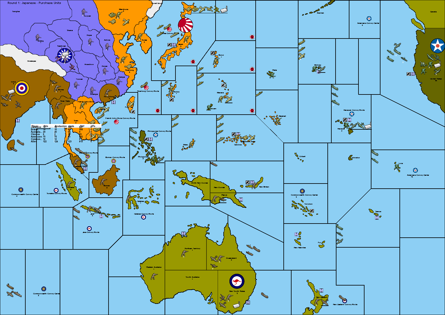 Axis And Allies Pacific Map Pacific Incomplete | Axis & Allies Wiki | FANDOM powered by Wikia