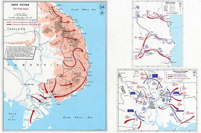 Vietnam war map 34