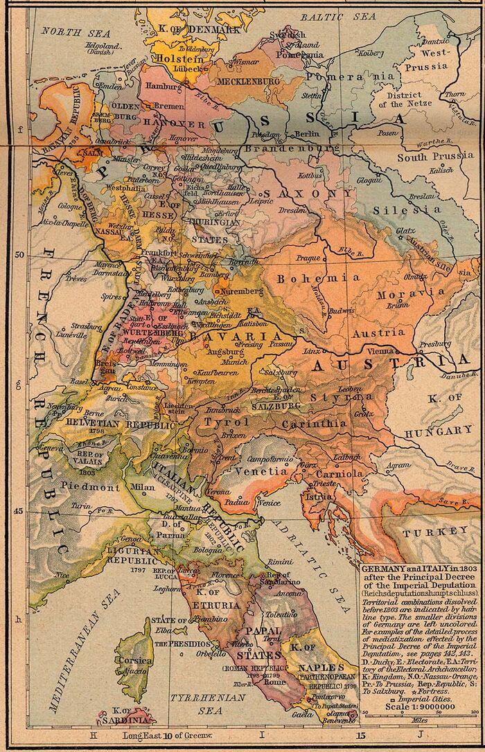 Germany italy 1803