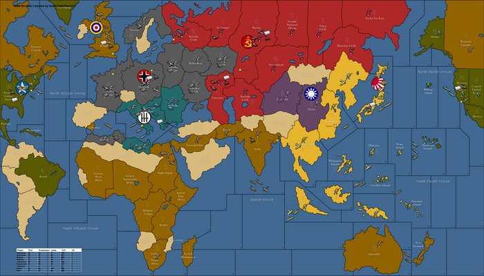 WWII Revised 7 powers by hoshi head