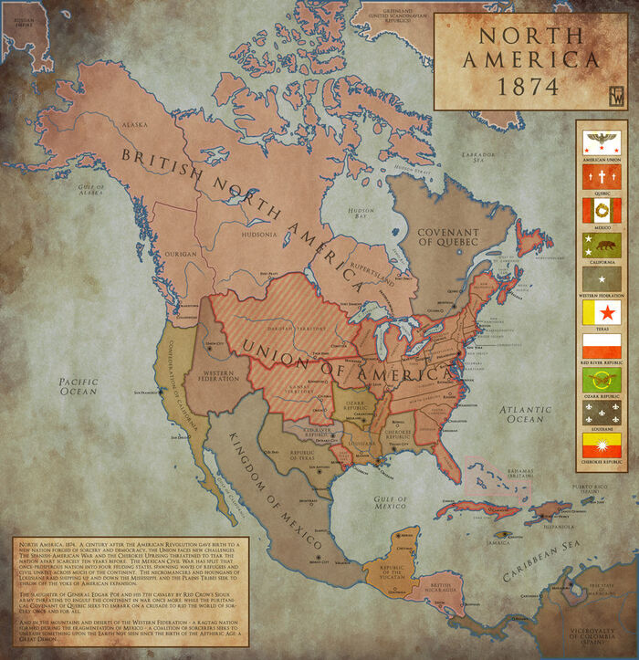 North america 1874 by chanimur-d4inpal