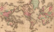 Johstons Map of the World