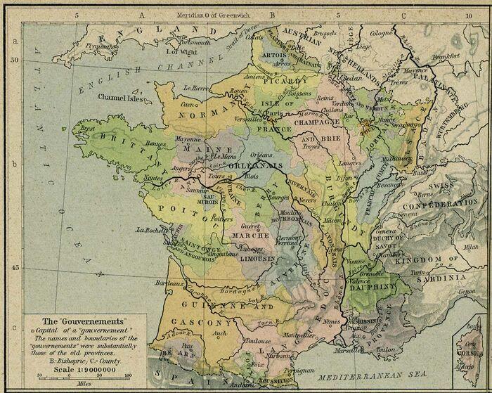 France gouvernements 1789