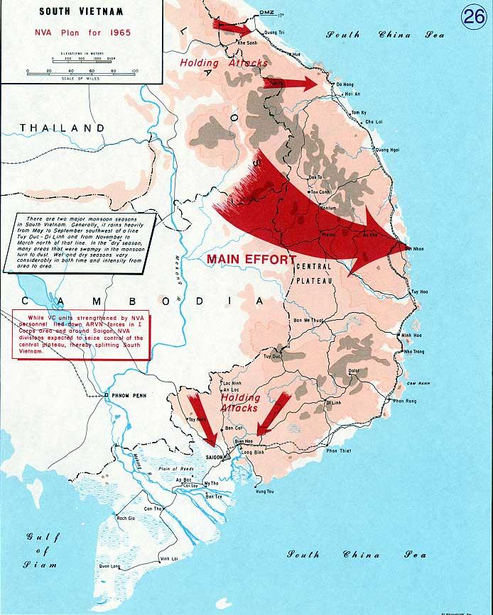 Vietnam war map 26