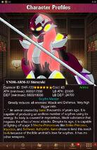 Character Profiles- YNDR-ARM-33 Shirayuki