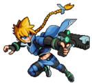 Gunvolt Fighter Big Size