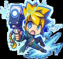Gunvolt -The Azure Striker- Artwork in Mighty Gunvolt