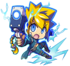 Gunvolt -The Azure Striker- Artwork in Mighty Gunvolt