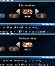 Gunvolt unused skills