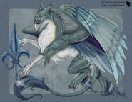 Gryphon With Fleur De Lis by ulario