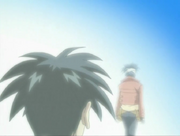 Kyousuke walking to light