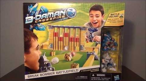B-DAMAN CROSSFIRE!! Break Bomber Battlefield (Hasbro) ~Unboxing~Review~Test~