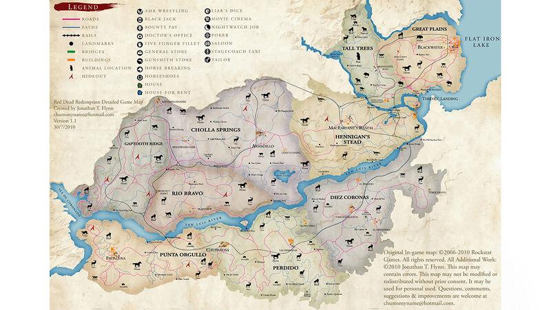 Red Dead Redemption original map