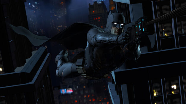 Telltale Games Batman ziplines across the city