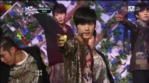 B1A4 걸어 본다(Tried To Walk by B1A4@Mcountdown 2012.11