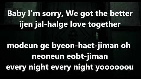 B1A4-Baby I'm sorry Lyrics!