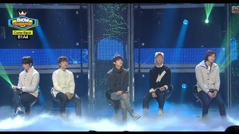 B1A4 - About Time, 비원에이포 - 사랑 그땐, Show Champion 20140122
