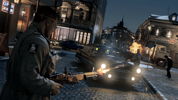 Lincoln Clay engages in combat in the French Ward in Mafia III