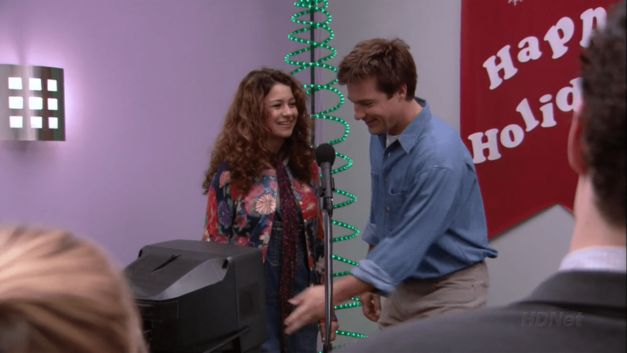 arrested development Christmas episode Afternoon Delight Maeby and Michael about to perform karaoke