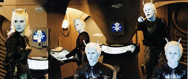 Andorian crew on their ship