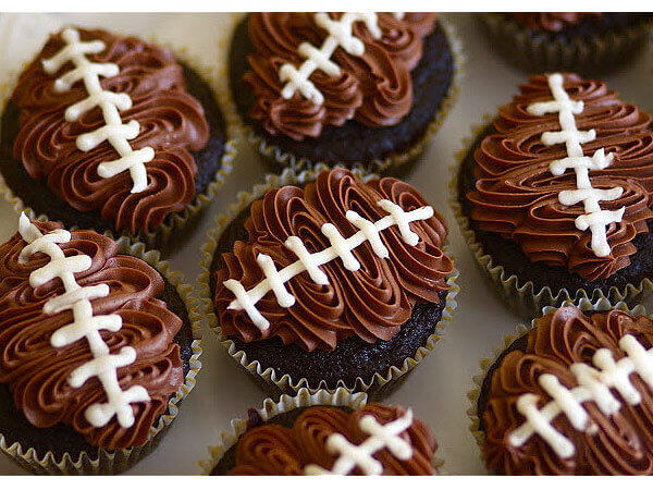 football-chocolate-cupcakes