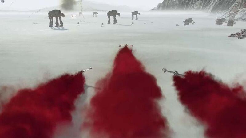 Battlefront II The Last Jedi DLC vista Crait