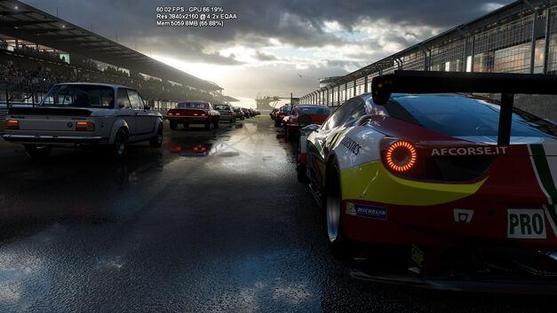 Forza running on the Xbox Scorpio.