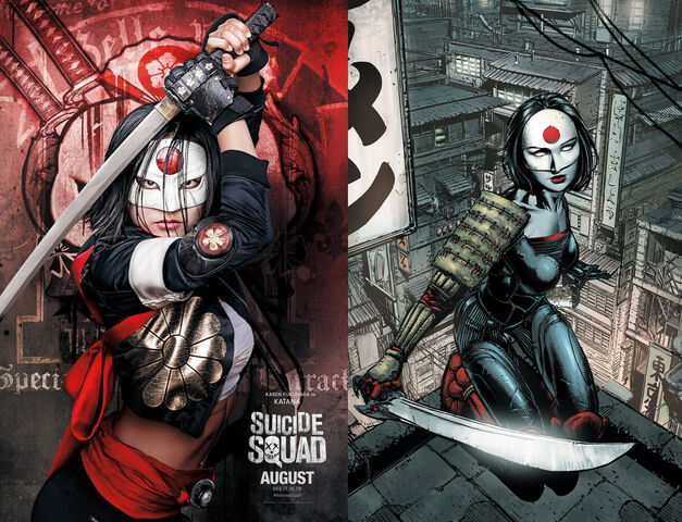 Katana Suicide Squad Comics Movie Comparison