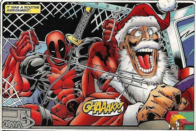 Deadpool Santa Claus