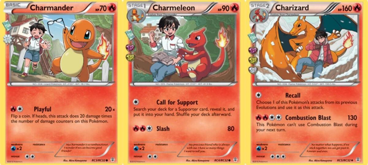 Pokemon Trading Card Game Charmander line
