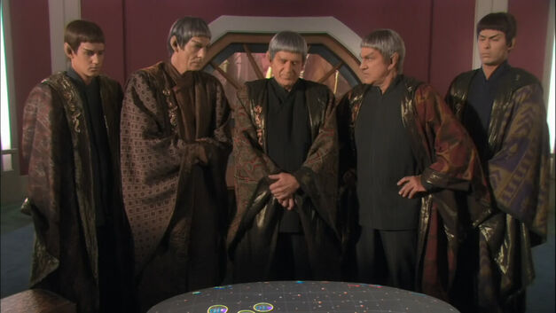 Vulcan high command have a stern chat together