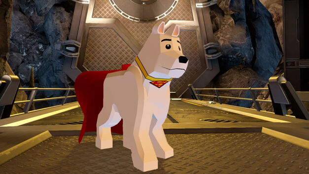 LEGO Krypto, as he appeared in the video game LEGO Batman 3: Beyond Gotham.