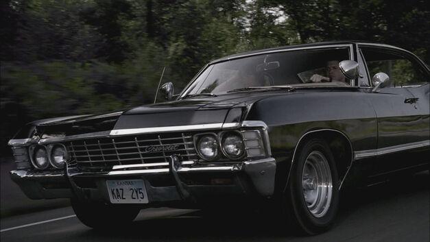Supernatural black Chevrolet 1967 Impala
